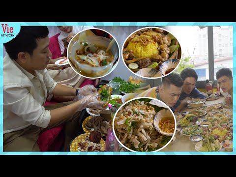 ÔNG HOÀNG ẨM THỰC Trường Giang bồi bổ đàn em Khả Như, Puka, Dương Lâm ăn Bánh Mì, Mì Quảng, Cơm Gà