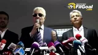FilGoal.com مرتضى منصور يهاجم فيريرا في مؤتمر تقديم ماركوس باكيتا لتدريب الزمالك