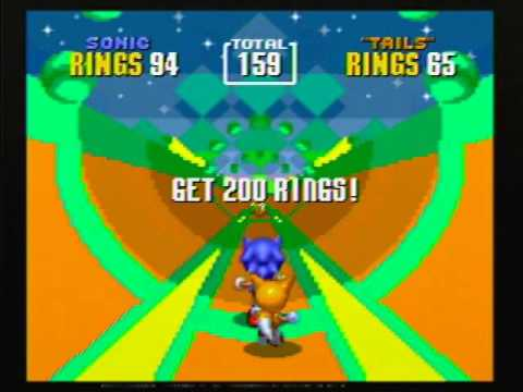 Sonic the Hedgehog 2 - Special Stage 5 (Sonic & Tails) - 290 Rings