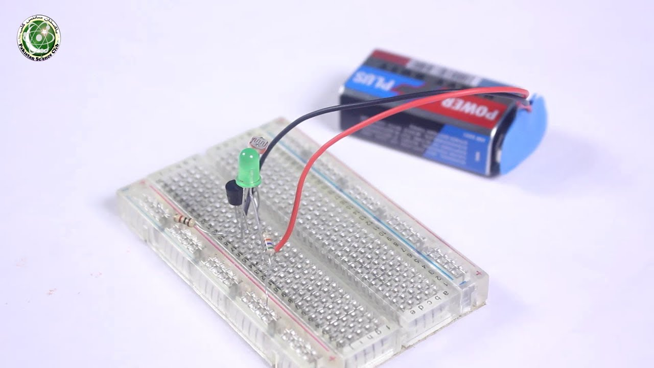 How to Make LDR dark sensor Easy Science Fair Project (Urdu)