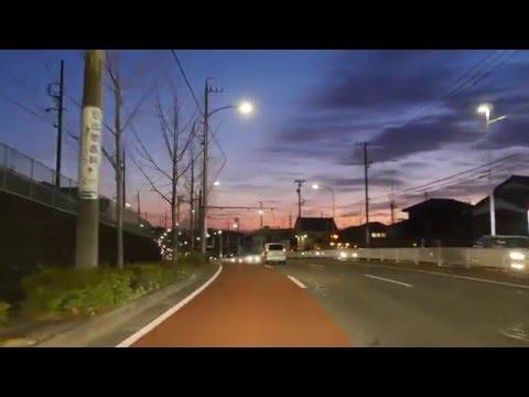 Nagoya City night drive 4K 2016 Feb