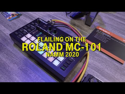 Flailing around on the Roland MC 101 at NAMM 2020