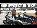 Test Riding Harleys! - Harley 48, Low Rider S, & Softail Slim S