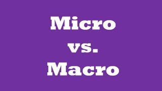 ★Micro vs. Macro [QuickEcon]★