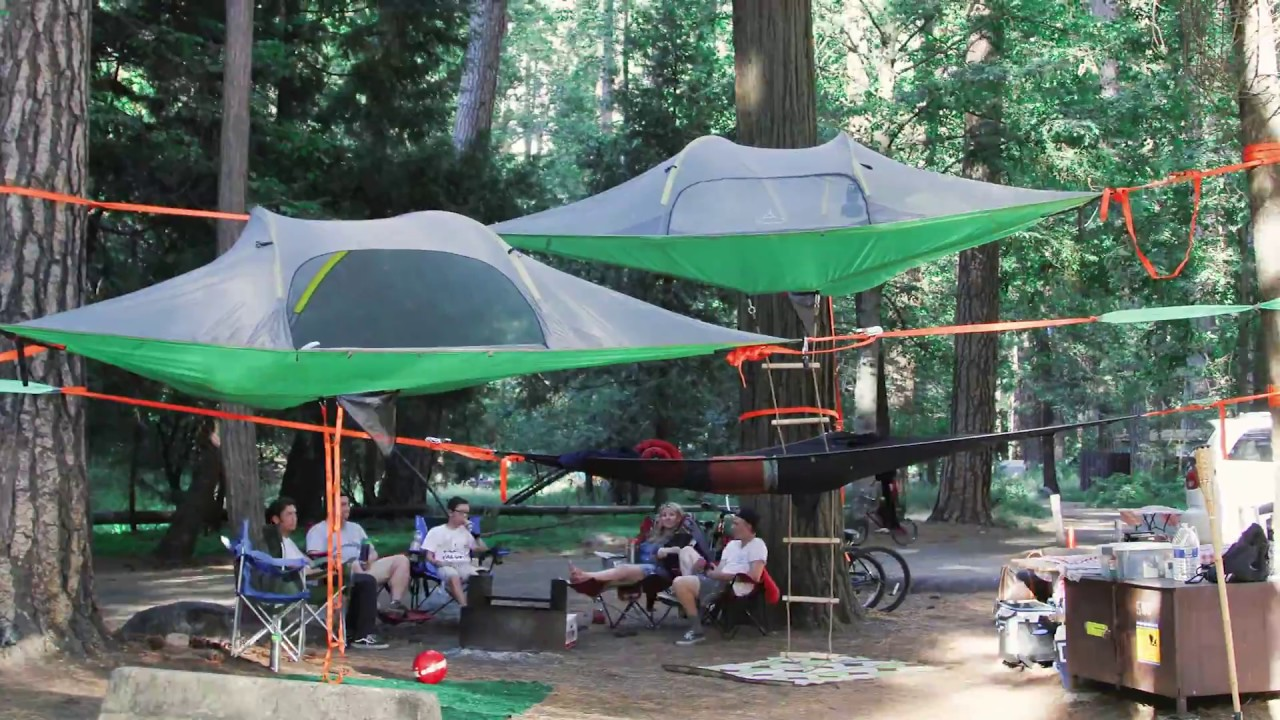 Family Camping In Yosemite North Pines With Tentsile Tree