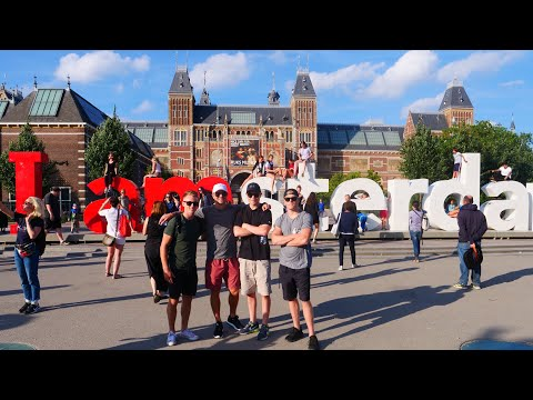 AMSTERDAM SMOKE N EAT TOUR 2018 🇳🇱Episode 2: Weed, Beers N Bars w/ Travel Buds – Euro Summer '18