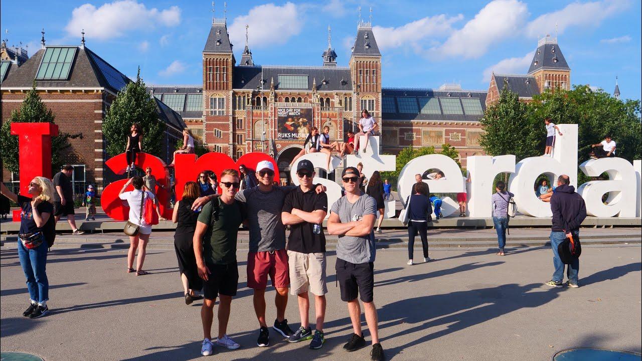 AMSTERDAM SMOKE N EAT TOUR 2018 ??Episode 2: Weed, Beers N Bars w/ Travel Buds – Euro Summer '1