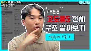 03. 고도몰5 전체 페이지 살펴보기 | 컴맹도 할 수 있는 인터넷 쇼핑몰 만들기
