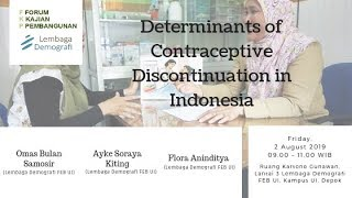 FKP 2019 02 08 - Determinants of Contraceptive Discontinuation in Indonesia