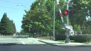 Following the VTA Electric Train around Moffett Field Park - Sunnyvale/Mountain View, CA