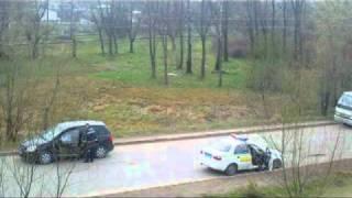 ДПС на посту біля моста Дрогобич