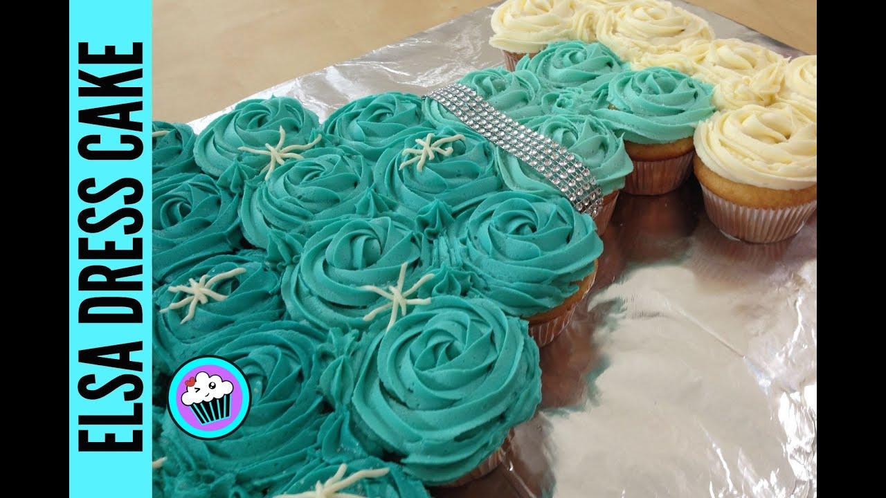How To Make A Cupcake Princess Dress Cake