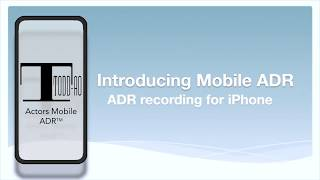 Actors Mobile ADR - ADR Recording for iPhone
