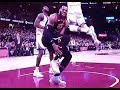 Lebron James gets crossed by Durant