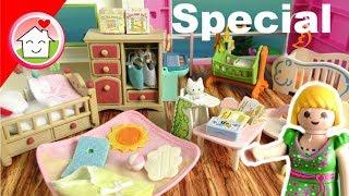 Playmobil Babyzimmer - Sylvanian Families Baby Room - Babyausstattung  Unboxing von Familie Hauser