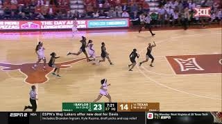 Baylor vs Texas Women's Basketball Highlights