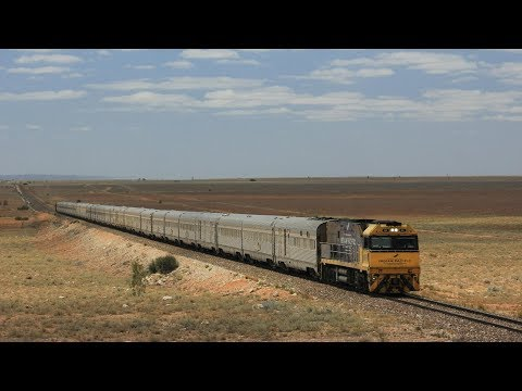 LONGEST STRAIGHT SECTION OF RAILWAY IN THE WORLD: Trains On The Trans Australian Railway #9