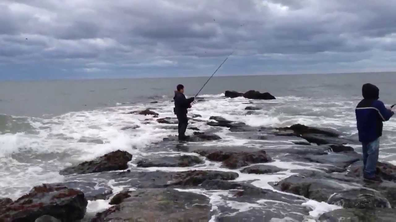 Giao friends at montauk surf fishing 4 11 2013 youtube for Montauk fishing report
