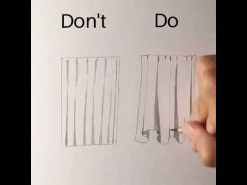 Daily Art - Do vs Don't - Learn how to draw a Curtain/ تعلم رسم الستارة
