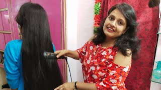 Seema Jaitly Live Free Online Beauty Parlour Course(training)Hair straight  kaise kare