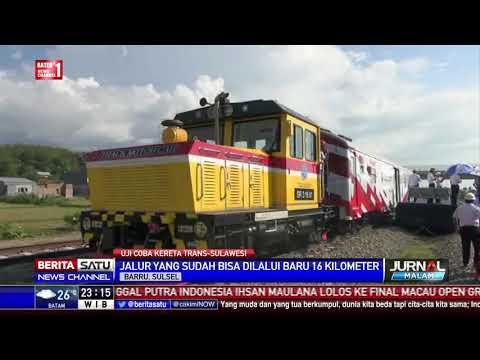 Gubernur Sulsel Uji Coba Kereta Trans Sulawesi
