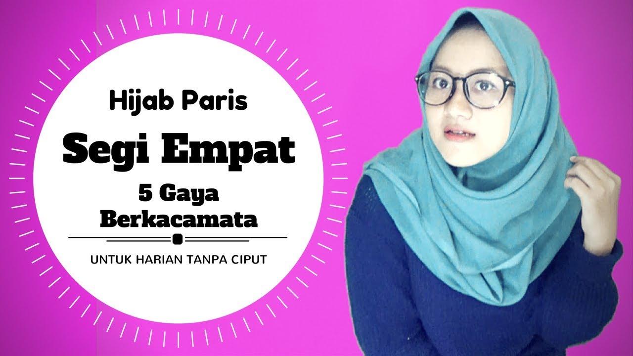 tutorial hijab terbaru paris simpel berkacamata 5 gaya untuk sehari - hari  #nmy hijab tutorials