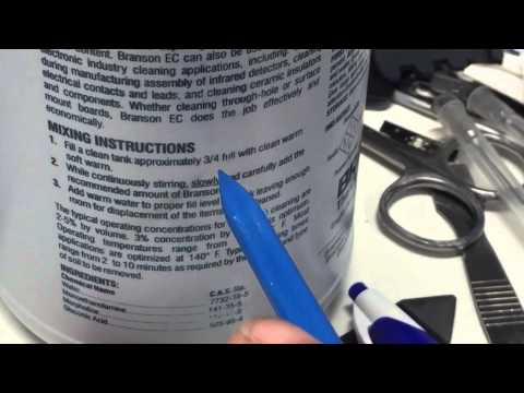 Proper ultrasonic cleaning solution for electronics PART 1