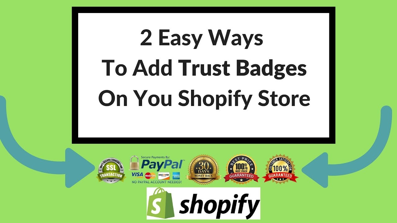 2 Easy Ways to Add Trust Badges on Your Shopify Store