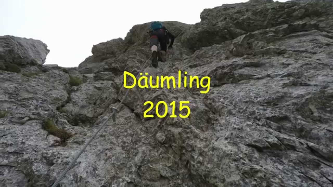 Klettersteig Däumling : Klettersteig däumling 2015 youtube