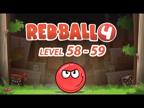 Games cartoon Red Ball 4 - Level 58-59....