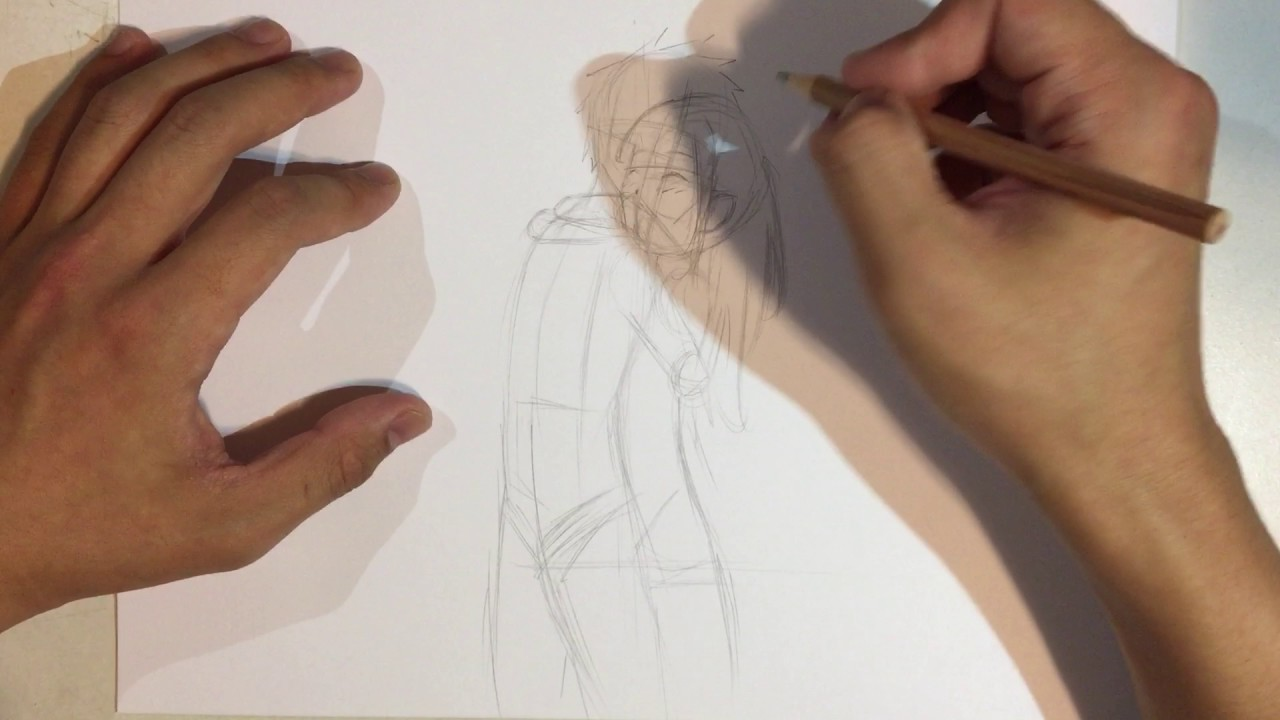 How to draw anime couple hugging no timelapse