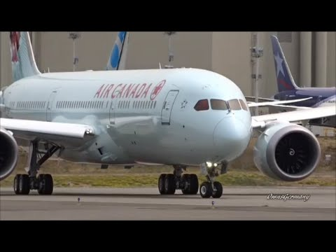 1st Air Canada 787-9 Dreamliner First Flight & Reject Take Off @ KPAE Paine Field