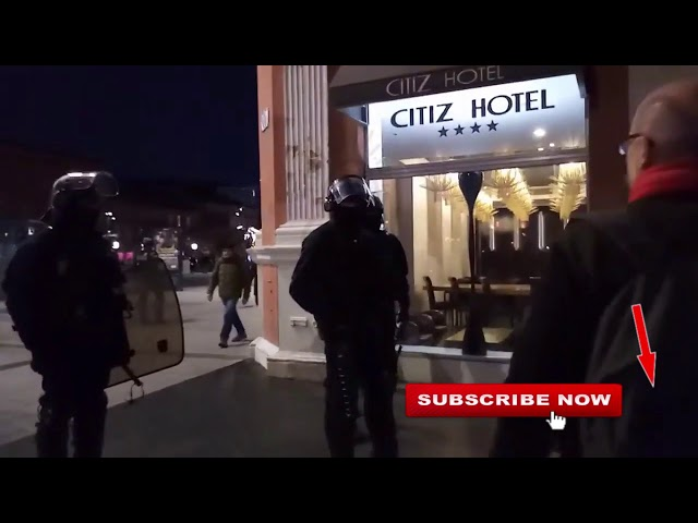 Police tells Police Practice Observatory to leave, GiletsJaunes  YV Toulouse, 11/01/20, live3 cut 13