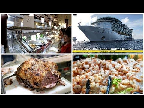 royal-caribbean-buffet-dinner-food-on-liberty-of-the-seas-(4k)