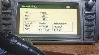 Как войти в Скрытое Сервисное Меню Навигации Toyota Lexus How to enter the Hidden Service Menu