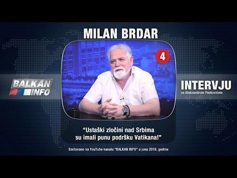 INTERVJU: Milan Brdar - Ustaški zločini nad Srbima su imali punu podršku Vatikana! (01.06.2018)