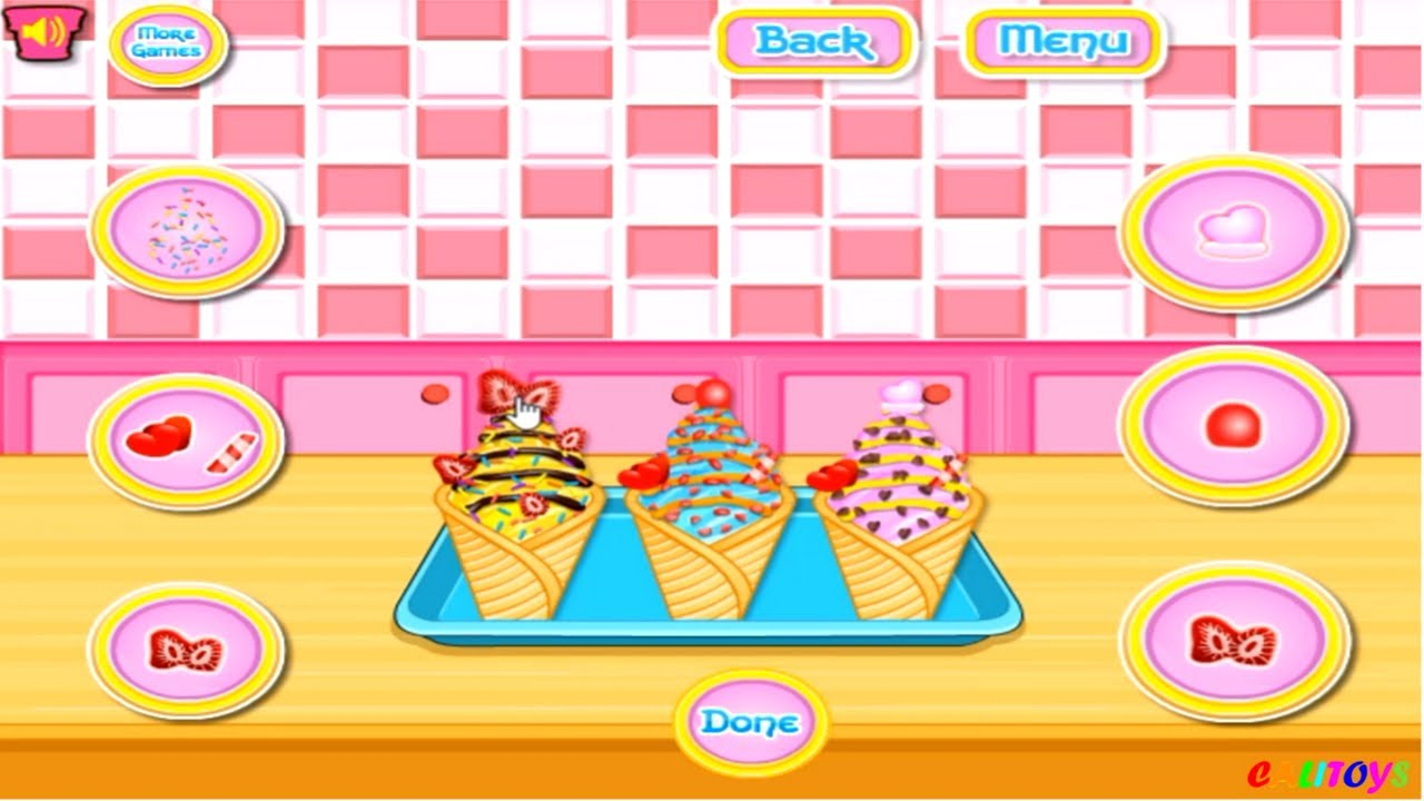 How to make ice cream cone cupcakes game review for children youtube how to make ice cream cone cupcakes game review for children ccuart Image collections