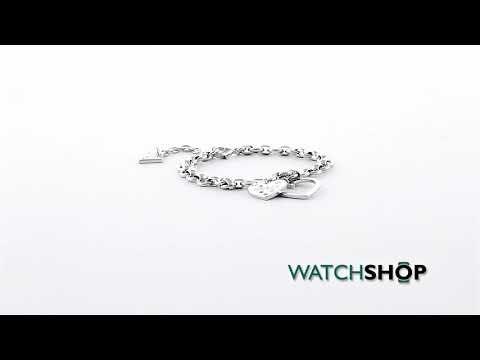 Guess Jewellery Ladies' Silver Plated Heart In Heart Bracelet (UBB84035-L)