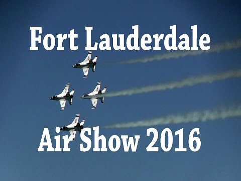 Fort Lauderdale Air Show 2016 (recorded using a Canon VIXIA HFM40 digital camcorder)