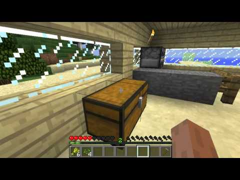 Let's Play Minecraft Part4--Română--Deprimat dupa Explozie,putin Arhitectura si Lava Lake!