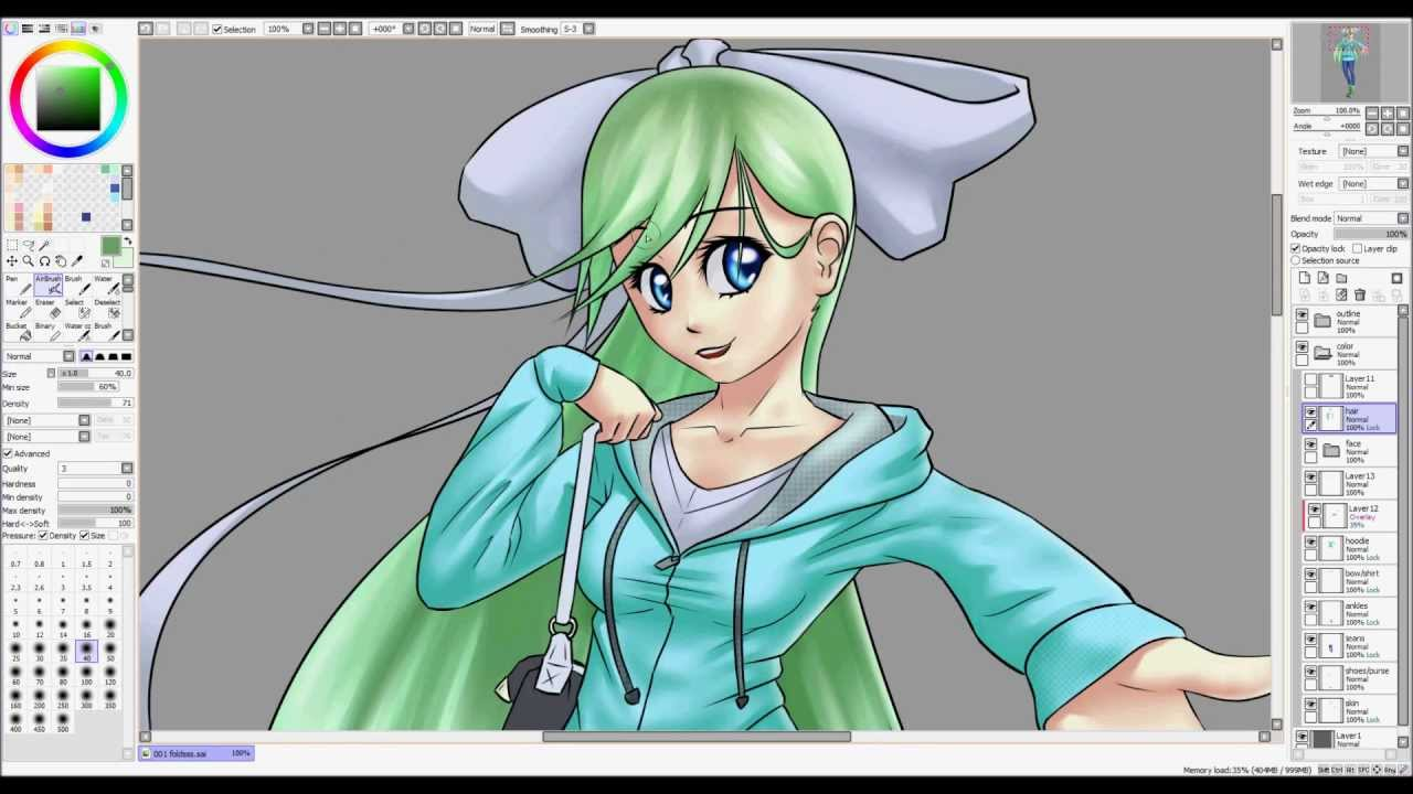 Paint Tool Sai Shading Clothes Tutorial