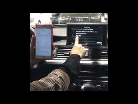 How to connect Bluetooth to your 2014 Audi A6 with navigation