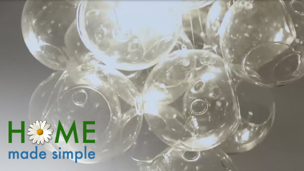 how to make this bubble chandelier with glass orbs home made simple oprah winfrey show - Bubble Chandelier