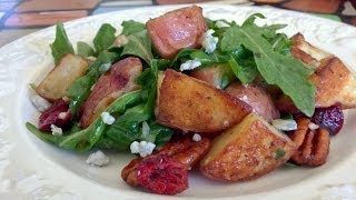 Roasted Potato Salad With Cranberries, Blue Cheese And Candied Pecans