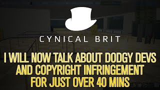 I will now talk about dodgy devs and copyright infringement for just over 40 mins.