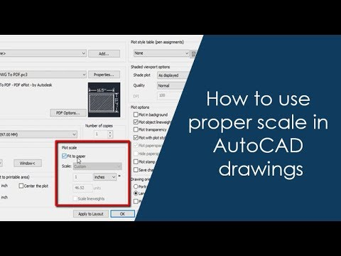 How to use proper scale in AutoCAD drawings - Part 1 of 2 - YouTube