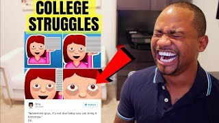TOP 25 FUNNIEST College Struggle Memes | Alonzo Lerone