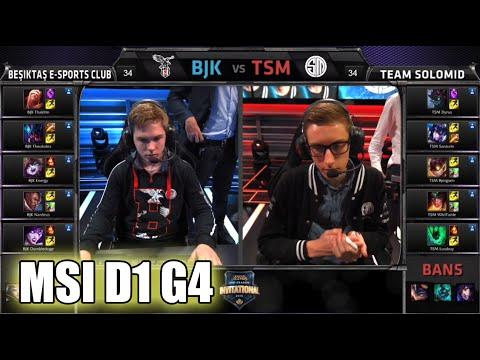 Beşiktaş vs TSM (Team Solomid)   MSI Group Stage Day 1 Mid Season Invitational 2015   BJK vs TSM MSI