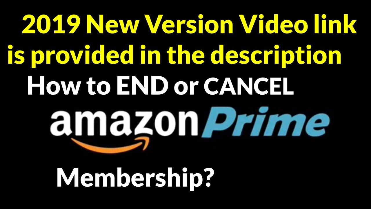 how to end or cancel your amazon prime membership youtube. Black Bedroom Furniture Sets. Home Design Ideas