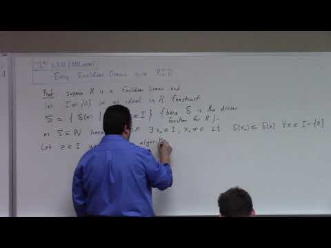 Abstract Algebra: ED implies PID implies UFD, some number theory, 11-29-17